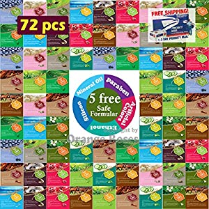 {Entel} 72 Pcs Combo-Pack, Premium Korean Essence Facial Mask Sheet (12 Types x 6 pcs), Five Chemical Free : No Paraben, No Silicon, No Mineral Oil, No Artificial Colors,No Ethanol …