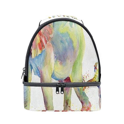 Bolsa de almuerzo aislada con diseño de elefante para pintar ...
