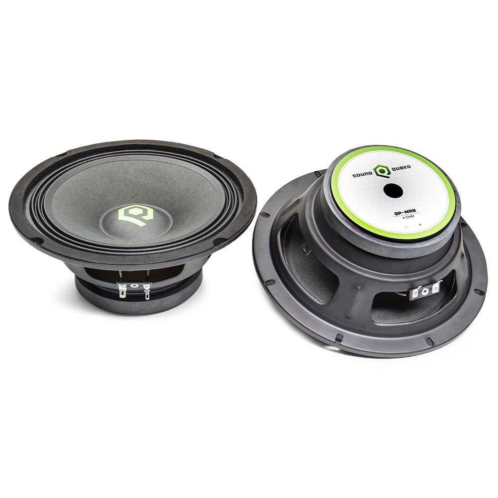 SoundQubed 4-Ohm 8 Pro Audio 100W RMS/200W Max Midrange Speaker Pair QP-MR8
