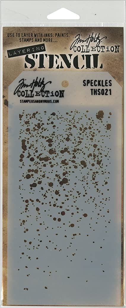 Stampers Anonymous Tim Holtz Collection Speckle Design Layering Stencil