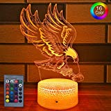 HLLKYYLF Kids Bald Eagle Gifts Bald Eagle Party Supplies 16 Color Changing Kids Lamp with Touch and Remote Control Mermaid Toys Lamp as Gift Idea for Home Decor or Birthday Gifts for Baby(Bald Eagle)