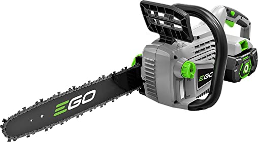 EGO Power CS1403 56V 2.5Ah Lithium-Ion Cordless Chain Saw with Battery Charger Kit, 14-Inch