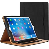 iPad Mini Case,iPad Mini 2 Case,iPad Mini 3 Case,PU-Leather Stand Folio Case Cover for ipad Mini 1/2/3,With Multiple Viewing Angles and Document Card Pocket,Auto Sleep/Wake (Black)