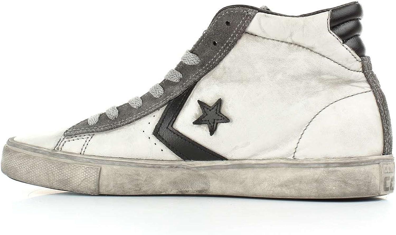 Converse, Uomo, PRO Leather Vulc Mid Ltd White Black Smoke