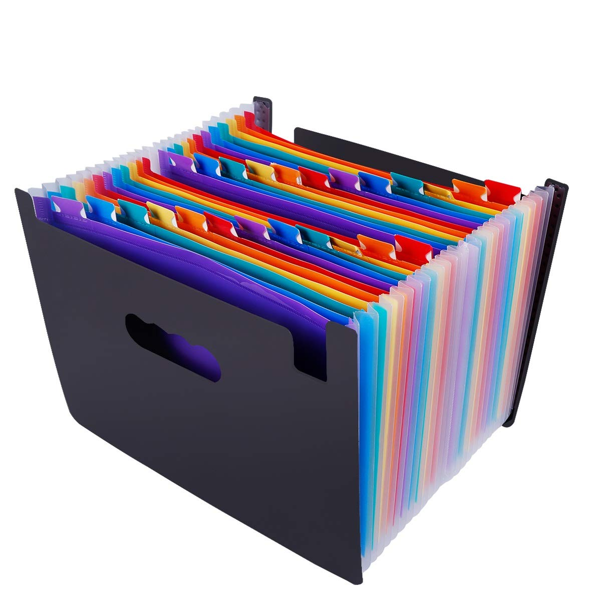 - CrazyLynX Portable A4 Expandable Accordion File Organizer 24 Pockets High Capacity Plastic File Wallets Stand Bag B Multicolored Expanding Files Folder