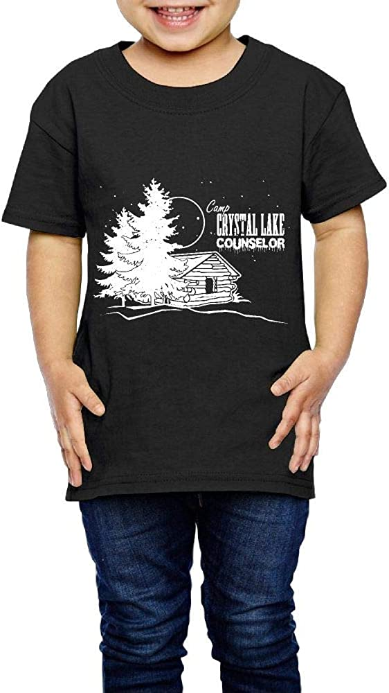 XYMYFC-E Camp Crystal Lake Counselor 2-6 Years Old Children Short Sleeve Tee Shirts