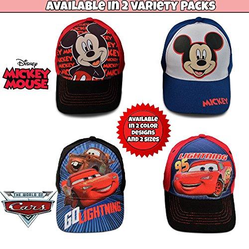 Disney Little Boys Assorted Character Cotton Baseball Cap, 2 Piece Design Set, Age 2-7 (Toddler Boys – Age 2-4 – 51 cm, Mickey Mouse Design – 2 Piece Set) by Disney (Image #4)