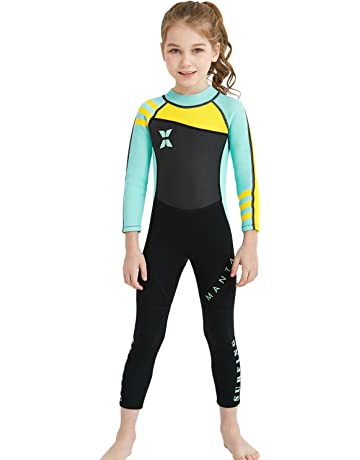 bd3b83940 Dark Lightning Kids Wetsuit, 2mm Neoprene Thermal Swimsuit, Youth Boy's and  Girl's One Piece