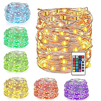 Amazoncom Nehearte Battery Led Fairy Lights Multi Color Changing