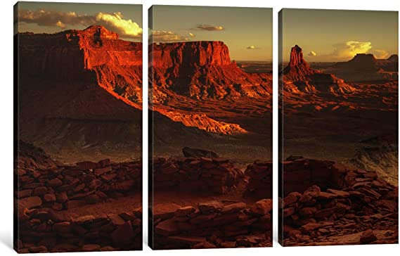 0.75 x 60 x 40-Inch iCanvasART 3-Piece Lost Kiva Canvas Print by Dan Ballard