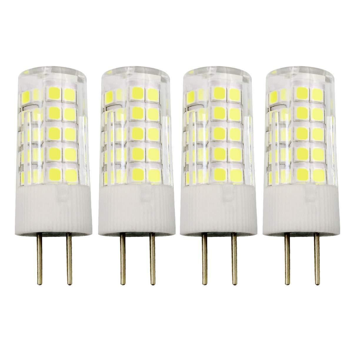 4W JC GY6.35 LED電球 120V 35W T4 ハロゲン GY6.35 ベース電球相当 昼光色 4個パック B07MN1B7JQ