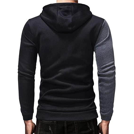 Amazon.com: Men Hoodies 2018 Autumn Patchwork Streetwear Hoodie Brand Male Long Sleeve red Big Size Sudaderas para Hombre: Kitchen & Dining
