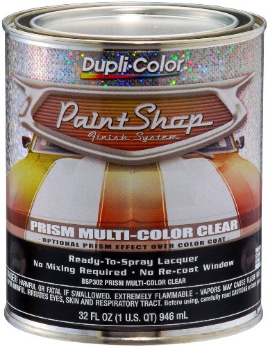Dupli-Color (BSP302-2 PK 'Paint Shop' Prism Clear Coat Finish System Special Effects Mid-Coat - 1 Quart, (Case of 2) by Dupli-Color (Image #1)