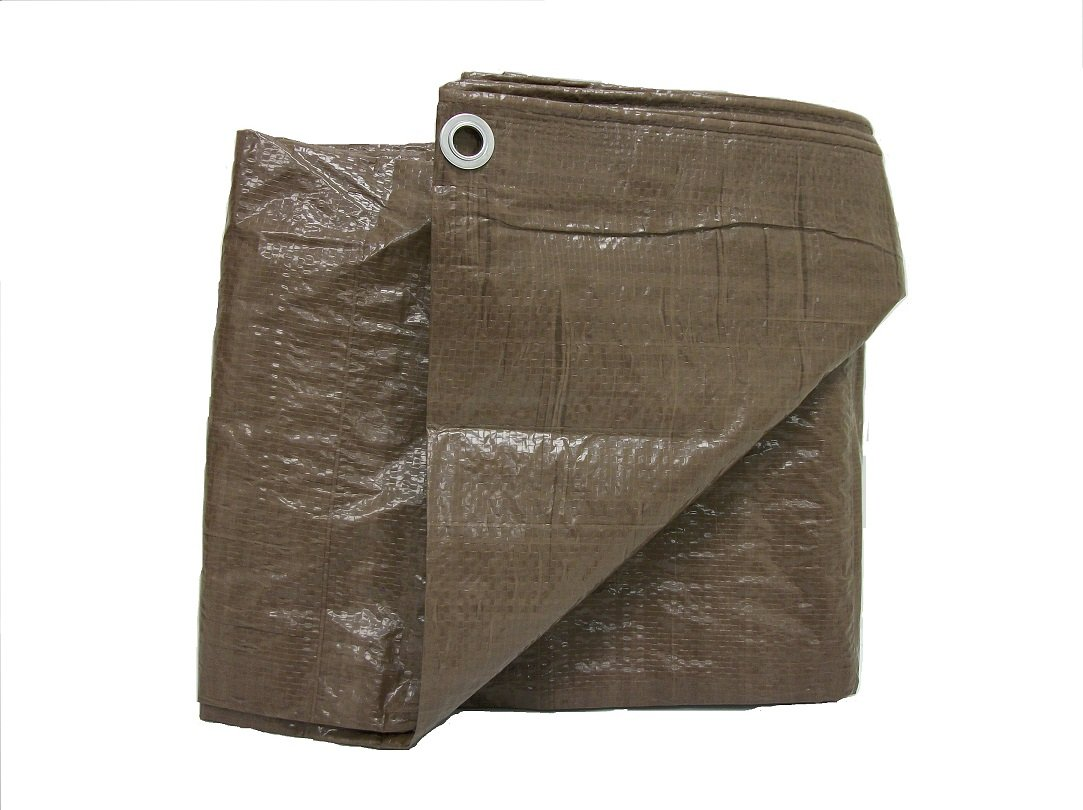 Weathermaster BT1012 Brown Poly Tarpaulin