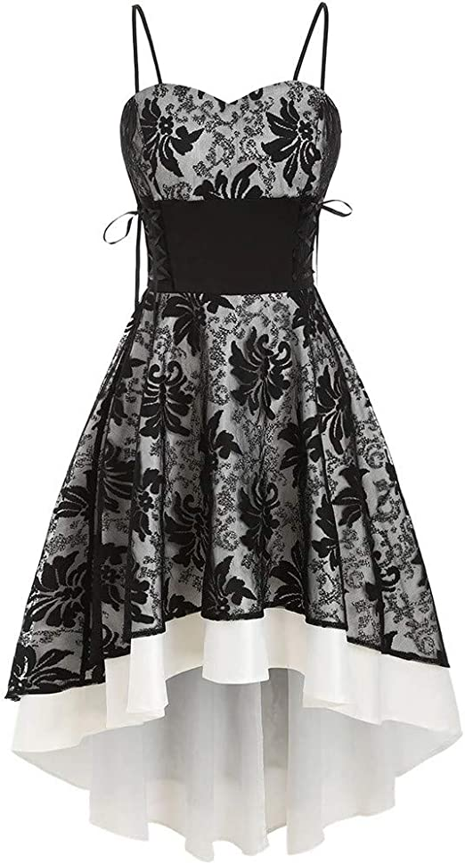 Piebo_Cosplay Kostüme Vestido gótico con corsé para Mujer, Estilo ...