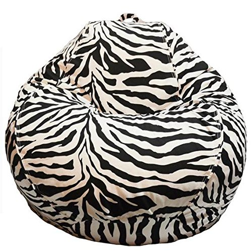 Mybeanbag Chair Adult PEAR, Zebra BEANBAG My Beanbag