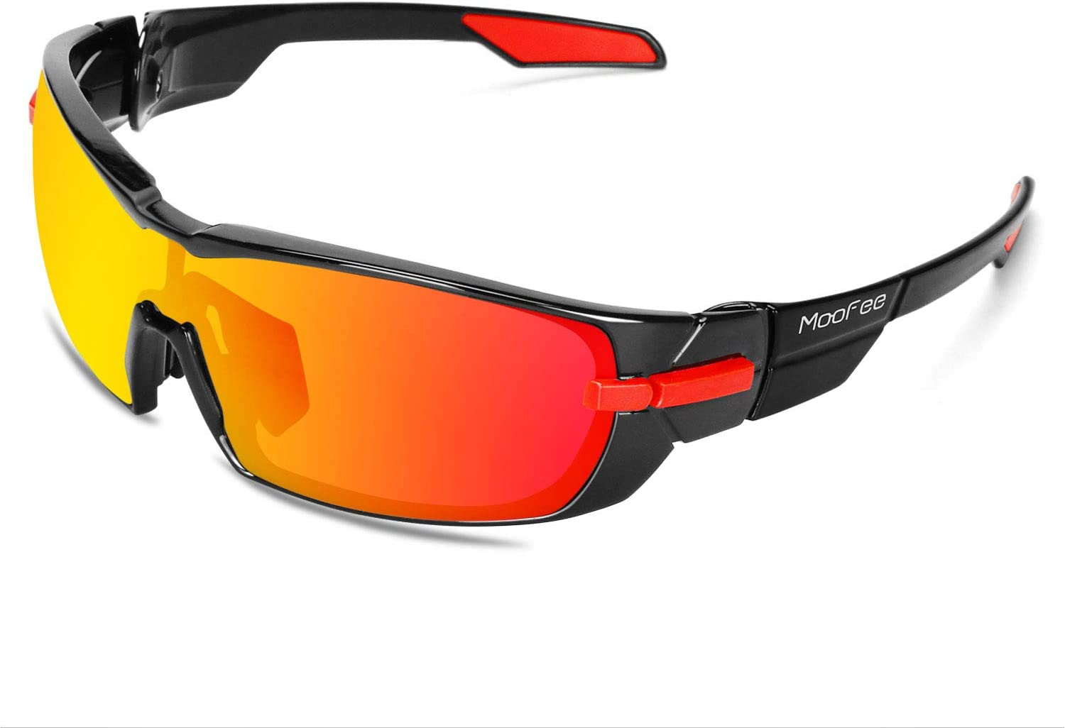 Moofee Polarized Sports Sunglasses with Rotatable Legs Cycling Glasses for Men