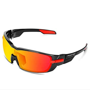 584b680b6f Moofee Polarized Sports Sunglasses with Rotatable Legs and 3  interchangeable Lenses Outdoor Glasses for Men Women