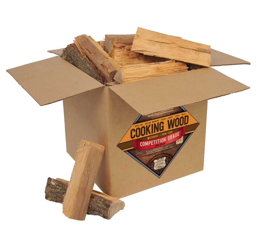 Smoak Firewood Cooking Wood Logs - USDA Certified Kiln Dried (Hickory, 25-30 lbs)