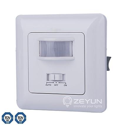 ZEYUN Interruptor del sensor, PIR y detección de voz para cambiar las luces, 140
