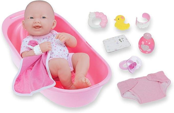 "8 piece Layette Deluxe Bathtub Gift Set | JC Toys, 14"""