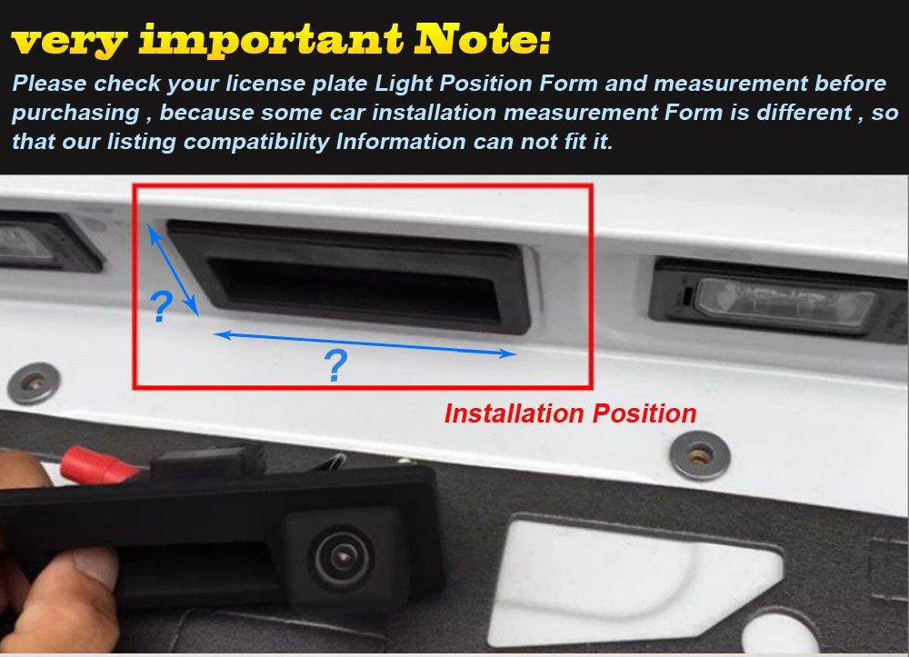 Model LS8003=110x40 mm Navinio Trunk Handle Rear View Back up Camera for BMW 3 5 Series 118 316 318 320 325 328Li 120i 330 335 320i 330i 335i 520 523 530 X1 E39 E46 E53 E88 E84 E90 E91 E92 E93 E60