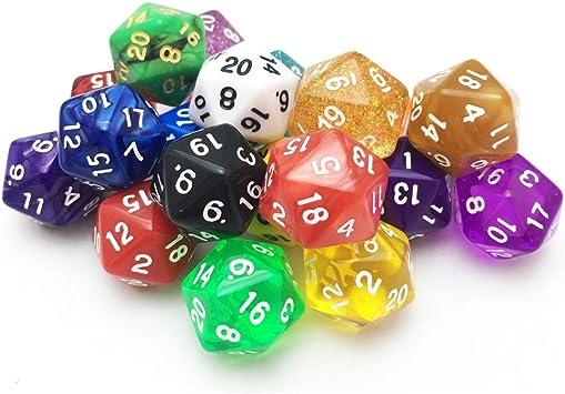 SmartDealsPro - Paquete de 10 Caras de Colores Aleatorios para Juegos de Mesa RPG MTG: Amazon.es: Juguetes y juegos