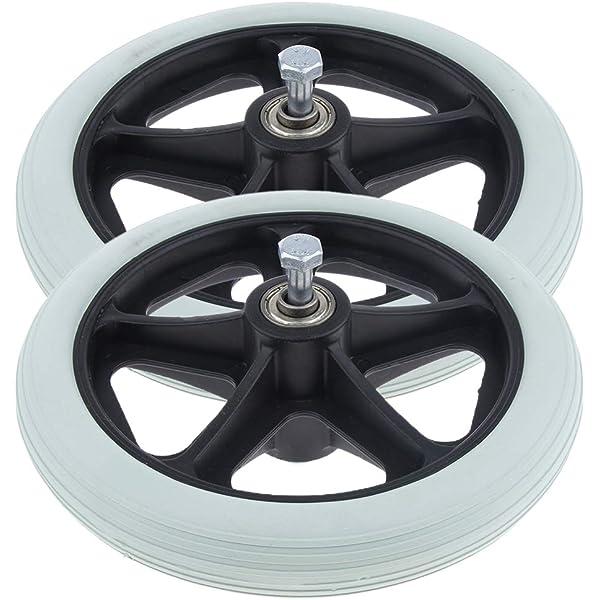 2 ruedas universales de 19 cm - Ruedas sólidas de repuesto ...