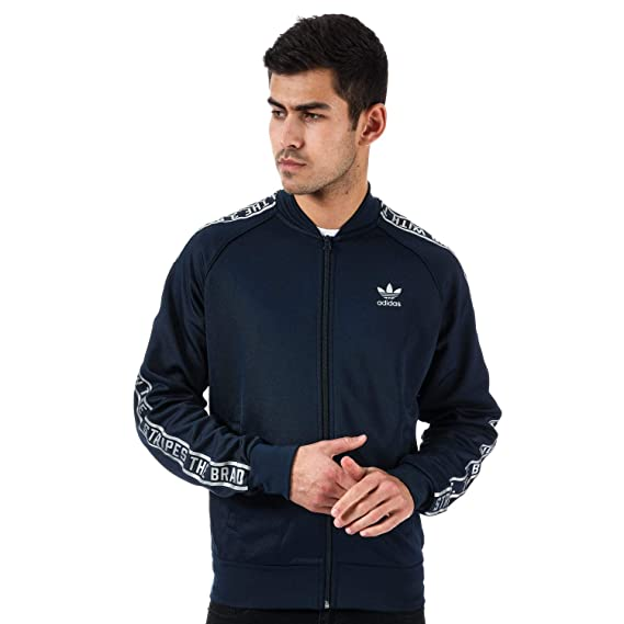 7899d0f1cc1 adidas Originals Mens Essentials SST Track Jacket in Navy- Full Zip  Fastening: adidas Originals: Amazon.co.uk: Clothing