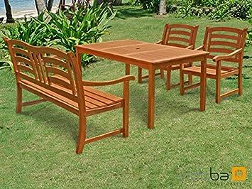 Gartenmöbel Set Holz Teilig ~ Florabest gartenmöbelset teilig ausziehtisch mit klappsesseln