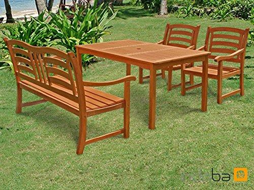 Indoba® Gartenmöbel Set 4-teilig Montana Gartenset Holz Garnitur