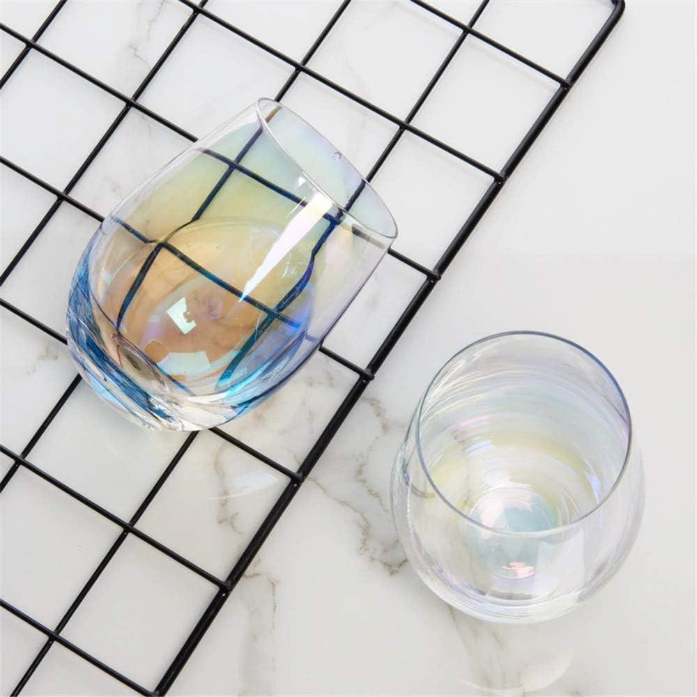 NUCA Luxury Lead-Free Rainbow Glass Cup Breakfast Milk Tea Coffee Juice Wine Cup Crystal Transparent Glass Cup Office Household 1pcs