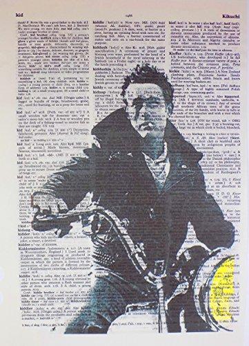 - Art N Wordz James Dean on Motorcycle Original Dictionary Sheet Pop Art Wall or Desk Art Print Poster