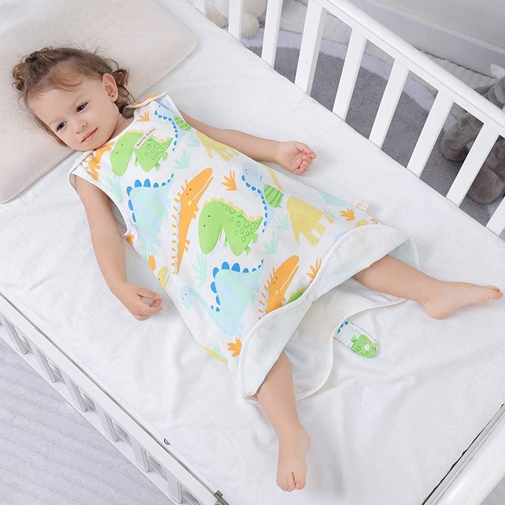 SXSHUN Baby Musselin Sommerschlafsack Schlafsack Baumwolle /Ärmellos Babyschlafsack f/ür Neugeborene