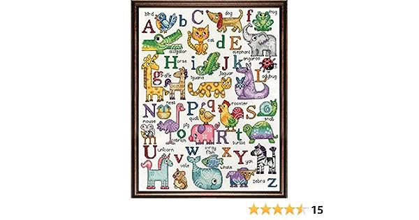 Boat Baby Nursery Decor Vintage Cross Stitch Alphabet Sampler Oak Wood Frame Flowers Apple Colorful Kids Room Kite Animals