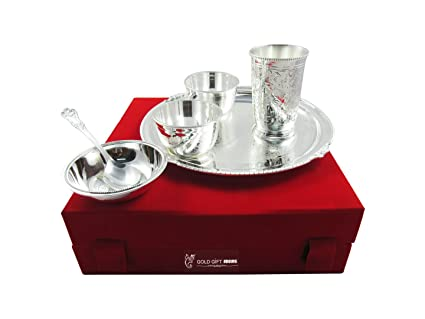 Buy Goldgiftideas 10 Inch Silver Plated Dinner Set For Home Export