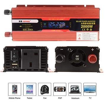 110V 220V Camping Caravan Modified Sine Wave US Car Power Inverter 4000W 12V