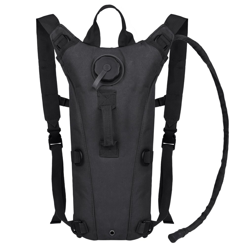 VBIGER Hydration Pack with 3L Bladder Water Bag Great for Hunting Climbing Running and Hiking Black, One Size