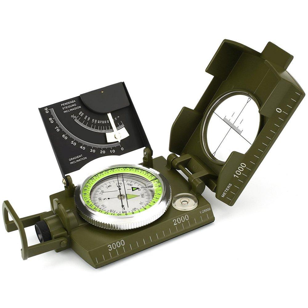 Militär Kompass Professionelle Multifunktions Kompass Metall Ziel Kompass Armee Grün, Wasserdicht Camping Outdoor
