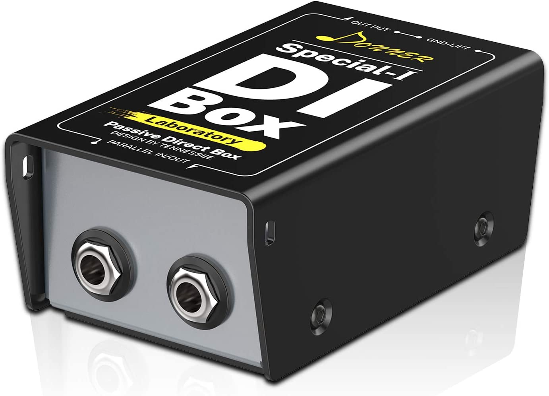Donner Caja DI (Pasiva) DI-BOX Directa para XLR Balanceado y ...