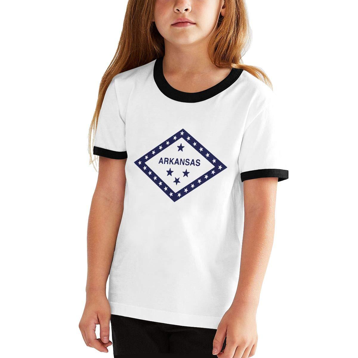 Kids Or Little Boys and Girls Manlee Arkansas State Unisex Childrens Short Sleeve T-Shirt