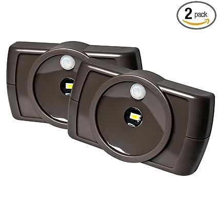 Best of Mr Beams MB862 Indoor Wireless Slim LED Light with Motion Sensor Features Brown New Design - Beautiful motion detector lights indoor Luxury