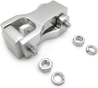 HTTMT MT283-004- Kits de bajada delantera compatibles con Honda Trx 400Ex Plata CNC aleación de aluminio hecho