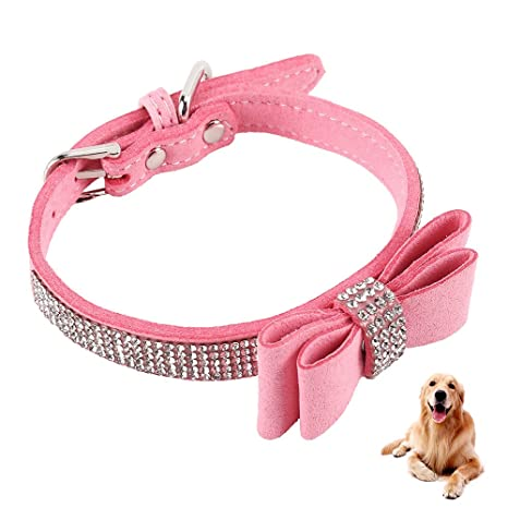 ZhongYeYuanDianZiKeJi Collar de Cuero ajustablepara Mascotas de la ...