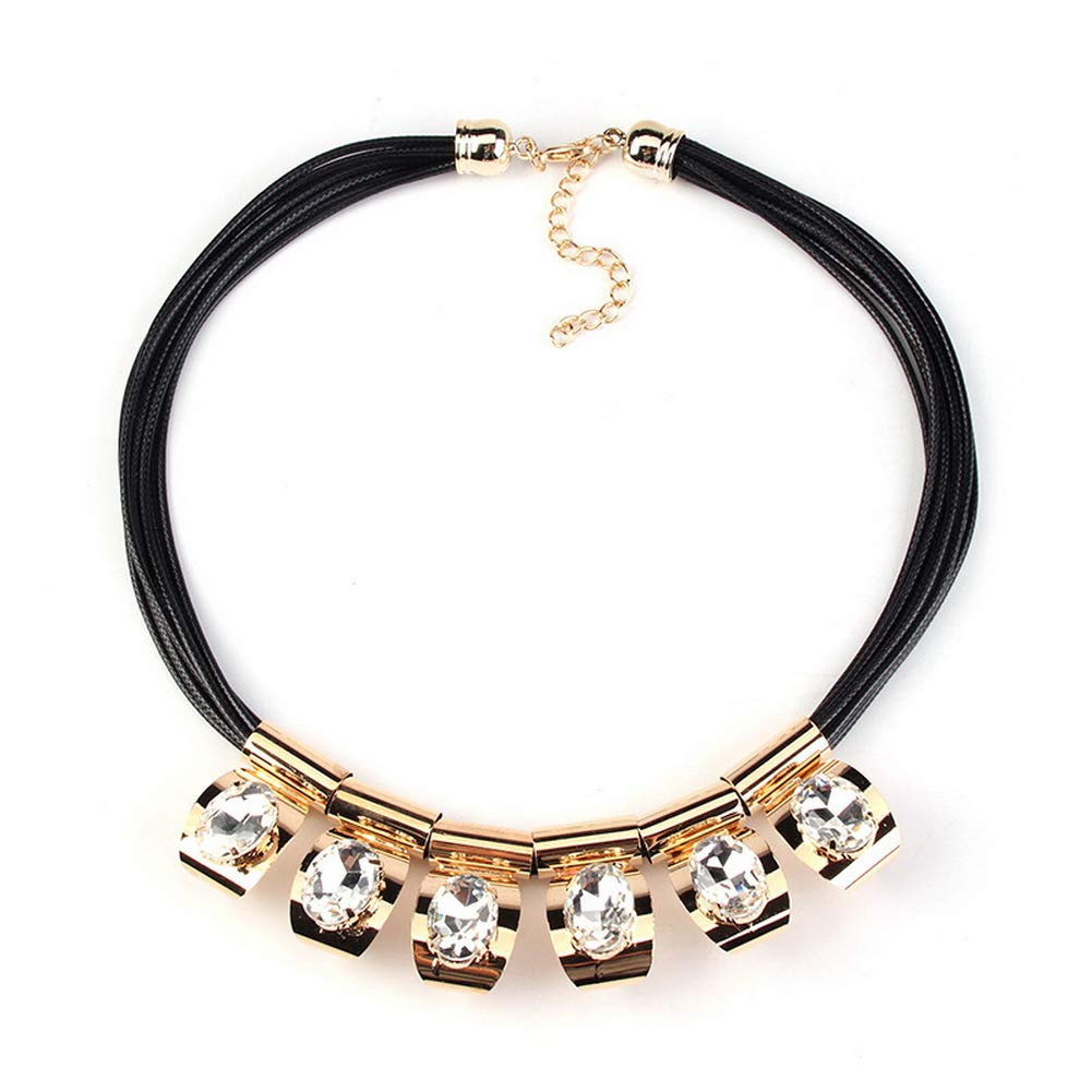 YAZILIND Fashion Rhinestone Alloy Sweater Chain Accessory Women Collar Necklace Party Jewelry Gift