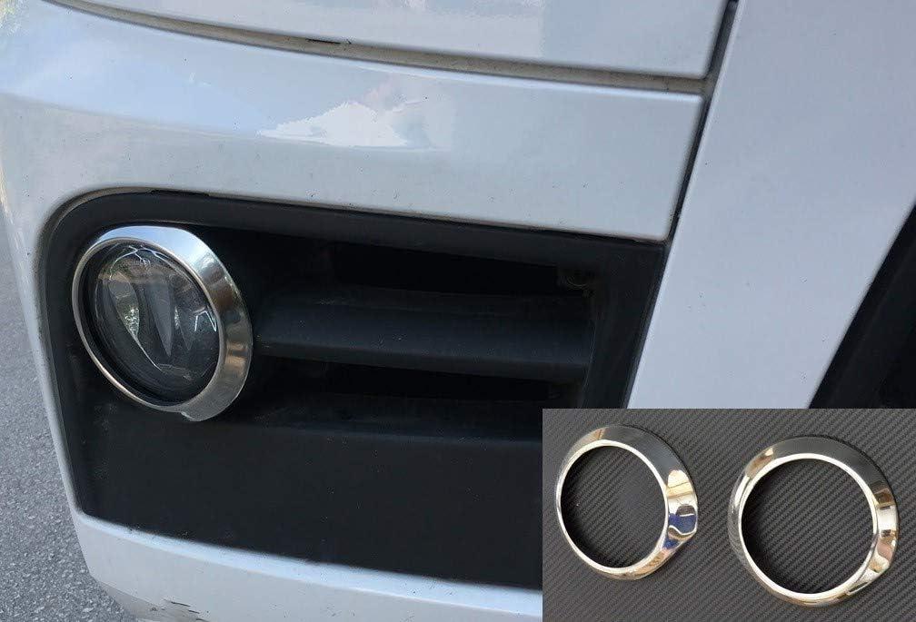 Vnvis Nebelscheinwerfer Ringdekoration Edelstahl 2 Stück Passend Für Actros Mp4 Chrom Stahl Zubehör Auto