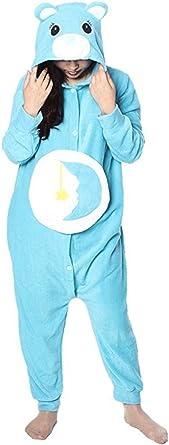 Katara- Pijamas Care Bears (4+ Modelos) Traje de Oso Carnaval Adulto, Color sueñosito azul, Talla 145-155cm (1744) , color/modelo surtido