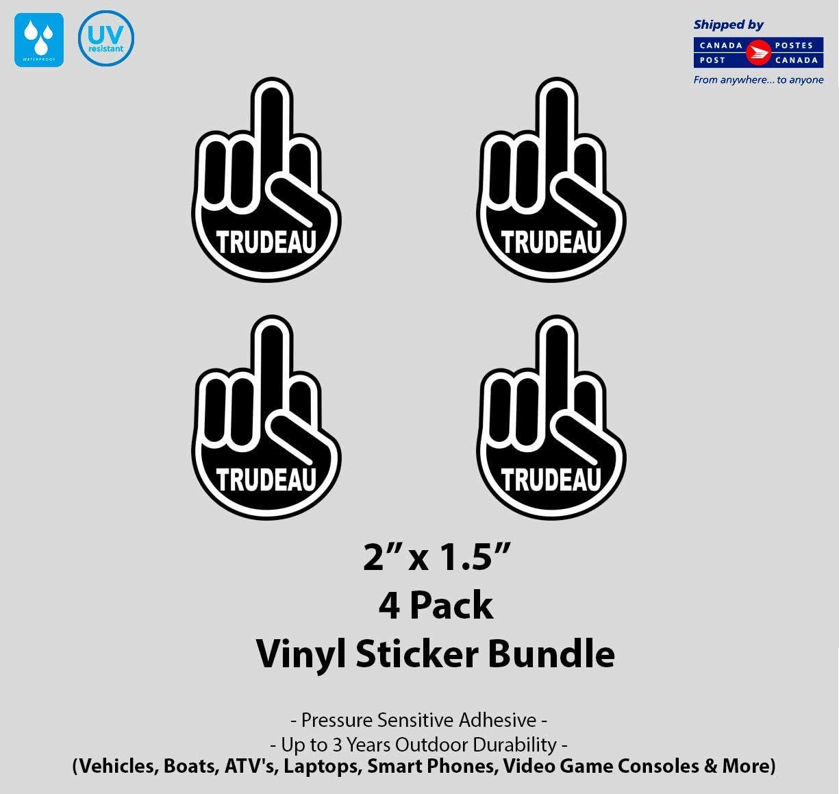 "4/"" x 5/"" F Trudeau Finger Laminated Vinyl Decal"