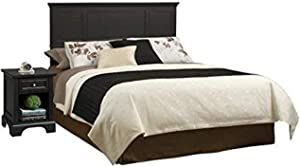 Bedford Black Queen Headboard & Nightstand by Home Styles