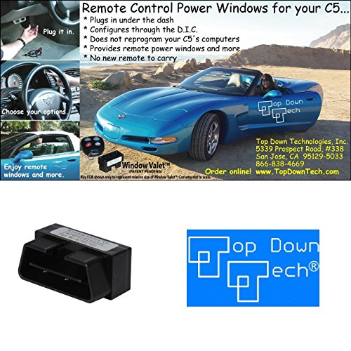 C5 Corvette Window Valet Operate your Windows with the Stock Remote FOB Fits: All 97 through 04 Corvettes